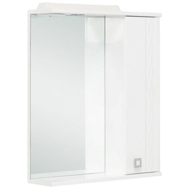 Шкаф-зеркало ЛИГА 52 см Правый