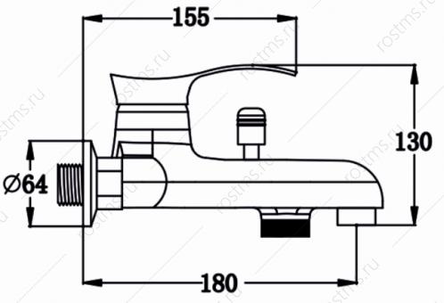 Смеситель для ванны SL86-009 PMC
