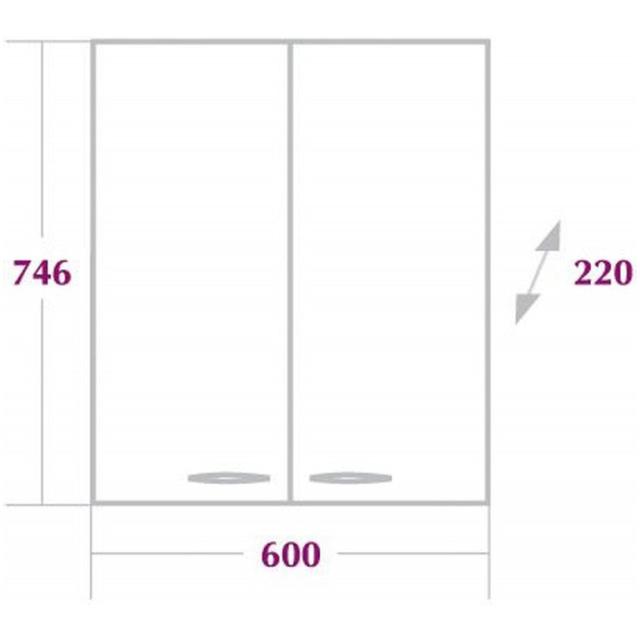 Шкаф двухдверный КРЕДО 60 см