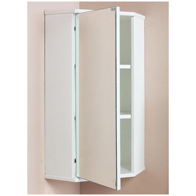 Шкаф-зеркало угловой КРЕДО 35 см