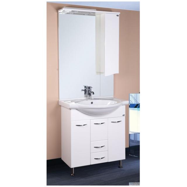 Шкаф-зеркало МОНИКА 75 см Правый